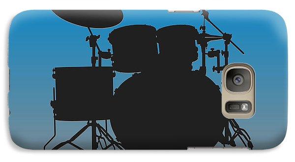 Carolina Panthers Drum Set Galaxy S7 Case by Joe Hamilton
