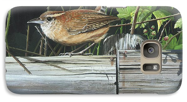 Galaxy Case featuring the painting Carolina Wren by Mike Brown