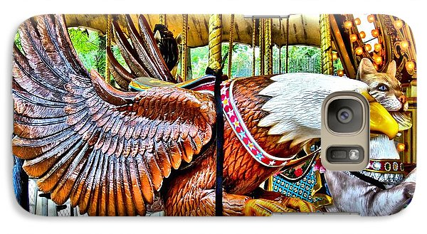Galaxy Case featuring the photograph Carousel Eagle by Margaret Newcomb