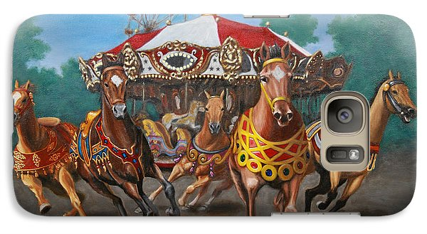 Galaxy Case featuring the painting Carousel Escape At The Park by Jason Marsh