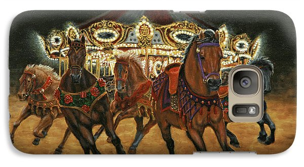Galaxy Case featuring the painting Carousel Escape At Night by Jason Marsh