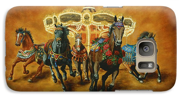 Galaxy Case featuring the painting Carousel Escape by Jason Marsh