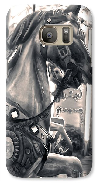 Galaxy Case featuring the painting Carousel Horse by Gregory Dyer