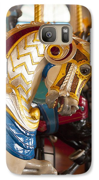 Galaxy Case featuring the photograph Colorful Carousel Merry-go-round Horse by Jerry Cowart