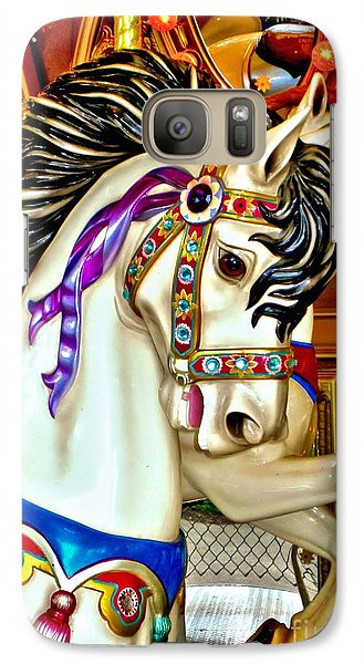 Galaxy Case featuring the photograph Carousel Horse by Margaret Newcomb