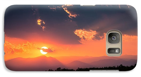 Galaxy Case featuring the photograph Carpathian Sunset by Mihai Andritoiu