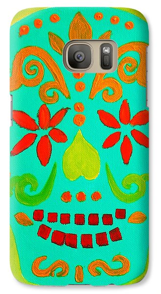 Galaxy Case featuring the painting Carpe Diem Series by Janet McDonald