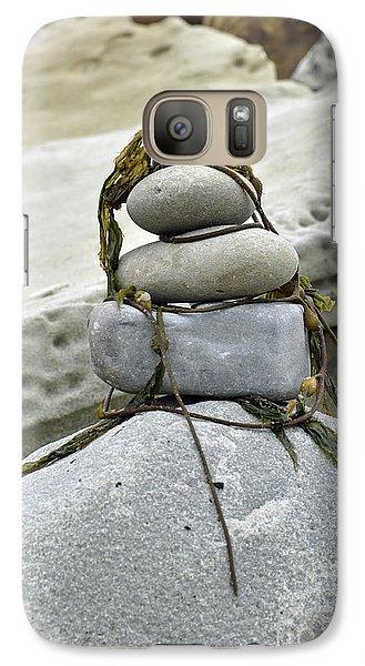 Galaxy Case featuring the photograph Carpinteria Stones by Minnie Lippiatt