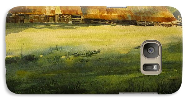 Galaxy Case featuring the painting Carr Barn by Elizabeth Carr