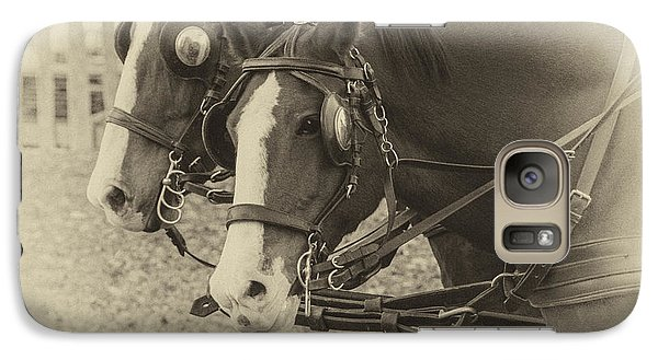 Galaxy Case featuring the photograph Carriage Horses I by Terry Rowe