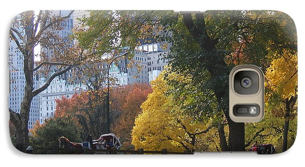 Galaxy Case featuring the photograph Carriage Ride Central Park In Autumn by Barbara McDevitt