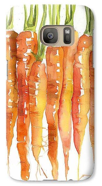 Carrot Bunch Art Blenda Studio Galaxy S7 Case by Blenda Studio