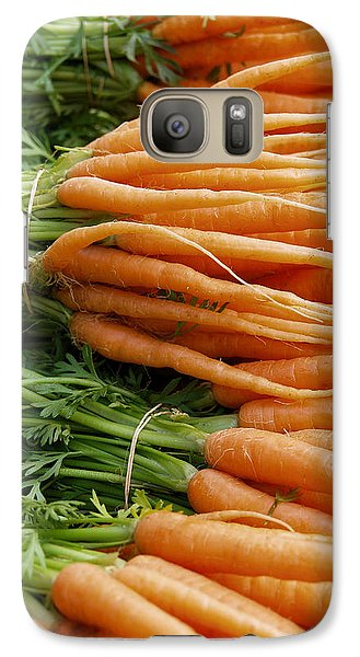 Galaxy Case featuring the digital art Carrots by Ron Harpham