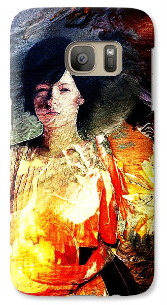 Galaxy Case featuring the digital art Carrying Sadness by Andrea Barbieri