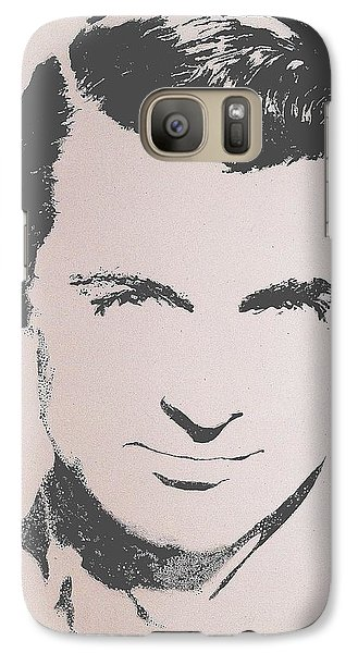 Galaxy Case featuring the painting Cary Grant by Cherise Foster