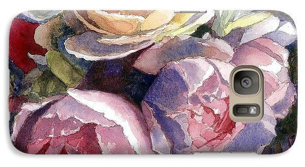 Galaxy Case featuring the painting Caryn's Roses by Janet King