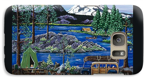 Galaxy Case featuring the painting Cascade Lake Sparks by Jennifer Lake
