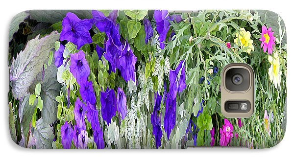 Galaxy Case featuring the photograph Cascade Of Flowers by Mariarosa Rockefeller
