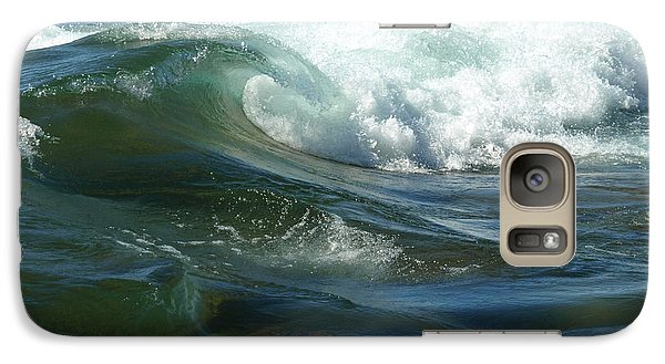 Galaxy Case featuring the photograph Cascade Wave by James Peterson