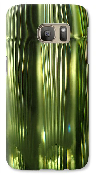 Galaxy Case featuring the photograph Cascading Green by Leena Pekkalainen