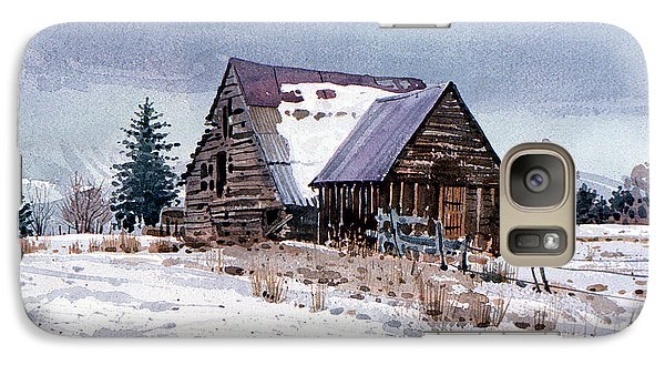 Galaxy Case featuring the painting Cache Valley Barn by Donald Maier