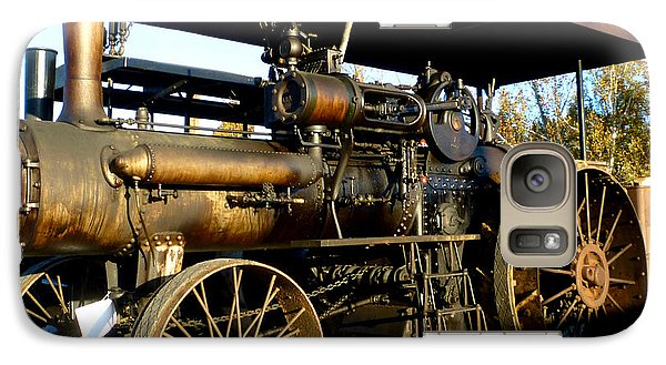 Galaxy Case featuring the photograph Case Steam Tractor by Pete Trenholm