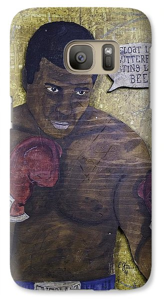 Galaxy Case featuring the painting Cassius Clay - Muhammad Ali by Eric Cunningham