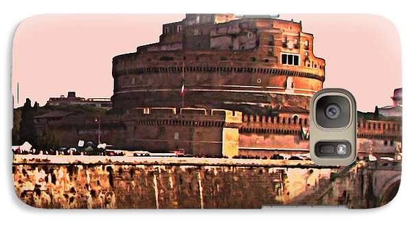Galaxy Case featuring the photograph Castel Sant 'angelo by Brian Reaves