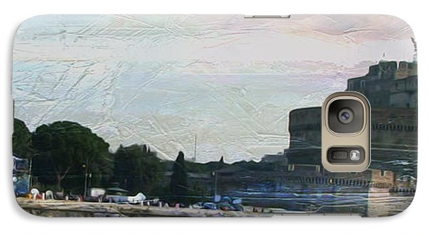 Galaxy Case featuring the painting Castel Sant'angelo     by Brian Reaves