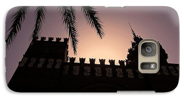Galaxy Case featuring the photograph Castell Dels Tres Dragons ... by Juergen Weiss