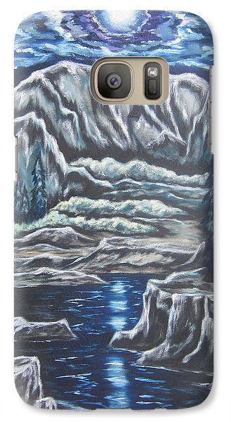 Galaxy Case featuring the painting Casting Shadows by Cheryl Pettigrew