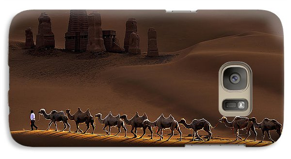 Camel Galaxy S7 Case - Castle And Camels by Mei Xu