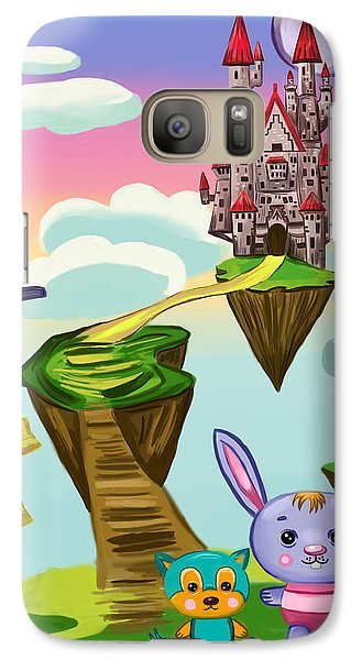 Galaxy Case featuring the painting Castle by Bogdan Floridana Oana