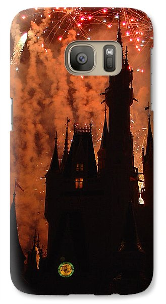 Galaxy Case featuring the photograph Castle Fire Show by David Nicholls