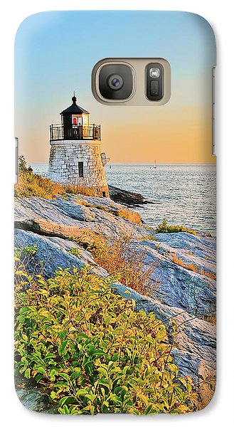 Galaxy Case featuring the photograph Castle Hill Lighthouse 1 Newport by Marianne Campolongo