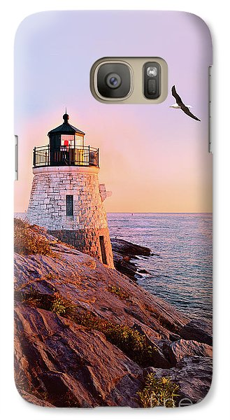 Galaxy Case featuring the photograph Castle Hill Lighthouse 2 Newport by Marianne Campolongo