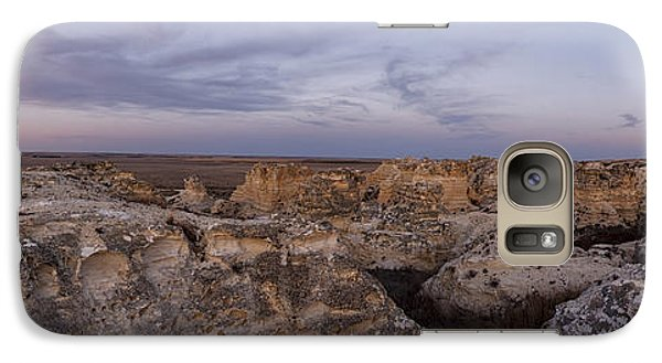 Galaxy Case featuring the photograph Castle Rock Badlands Pano by Scott Bean