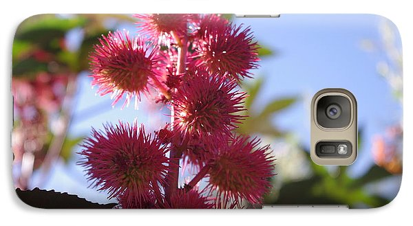 Galaxy Case featuring the photograph Castor Bean by David Rizzo