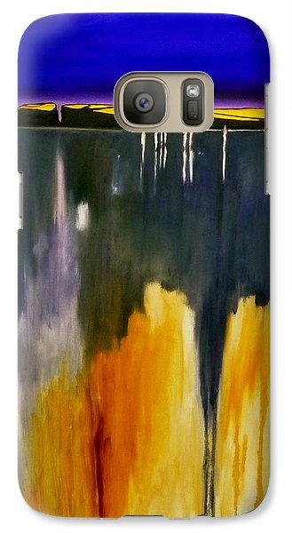 Galaxy Case featuring the painting Casual Water by Jo Appleby