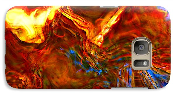 Galaxy Case featuring the digital art Cat And Caduceus In The Matmos by Richard Thomas