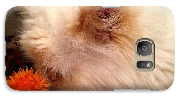 Galaxy Case featuring the photograph Cat And His Flower by Carla Carson