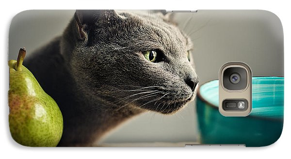 Cat And Pears Galaxy S7 Case