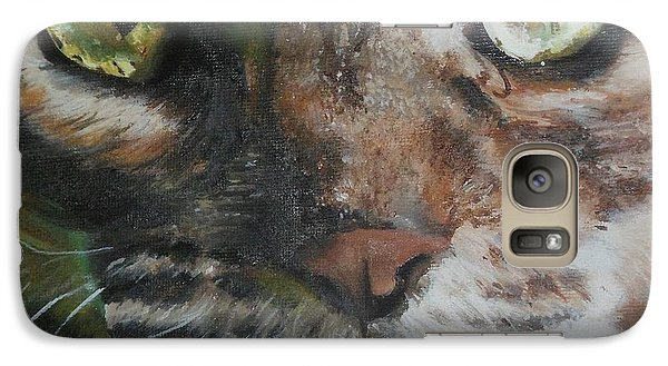 Galaxy Case featuring the painting CaT by Cherise Foster