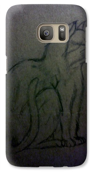 Galaxy Case featuring the drawing Cat by Christy Saunders Church