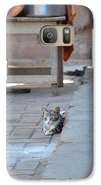 Galaxy Case featuring the photograph Cat Nap II by Ronda Broatch