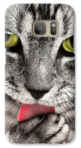 Galaxy Case featuring the photograph Cat by Paul Fearn