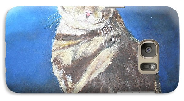 Galaxy Case featuring the painting Cat Profile by Thomas J Herring