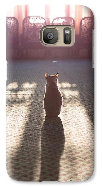 Cat Sitting Near Window Galaxy S7 Case by Matteo Colombo