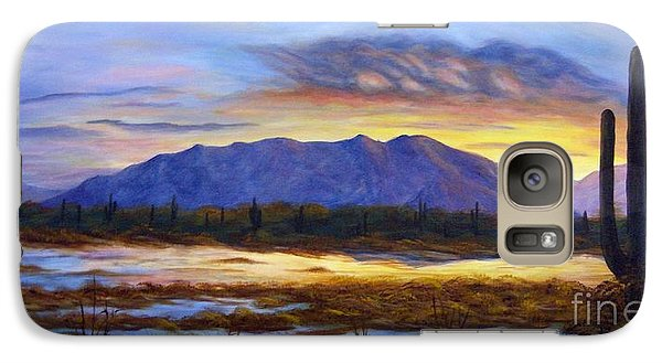 Galaxy Case featuring the painting Catalina Sunrise by Judy Filarecki