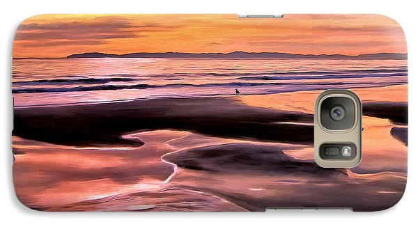 Galaxy Case featuring the painting Catalina Sunset by Michael Pickett